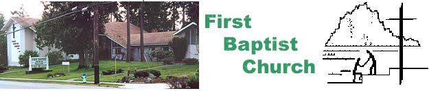 First Baptist Church photo, and logo